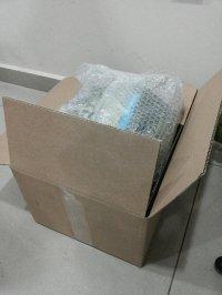 przesyłka zabezpieczona folią bąbelkową